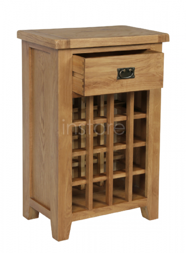 Loxley Oak Wine Table/Cabinet